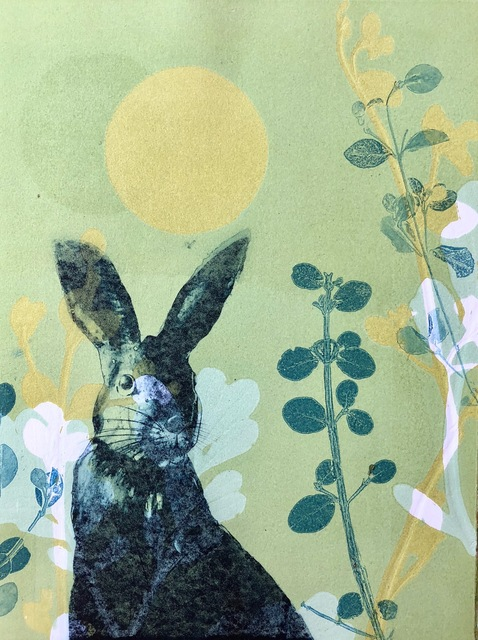 , 'The Hare Amongst the Alpine Flowers,' 2018, Queenscliff Gallery & Workshop
