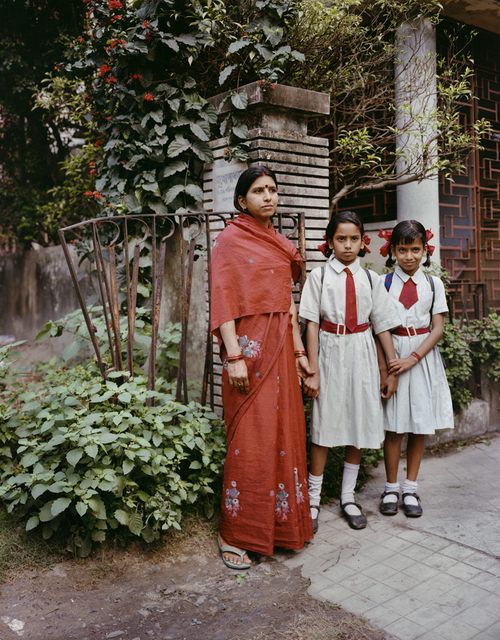 , 'Manna, an Ayah, with her two charges, Jodhpur Park, Kolkata,' 1998, Benrubi Gallery