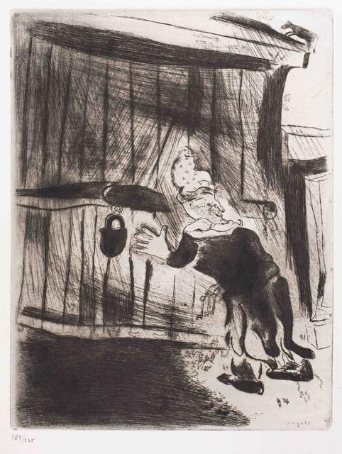 Marc Chagall, 'Pliouchkine à la porte', Wallector