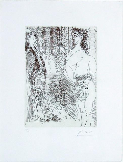 Pablo Picasso, 'Le Cabinet Particulier, Degas et une Fille', 1971, Gormleys Fine Art