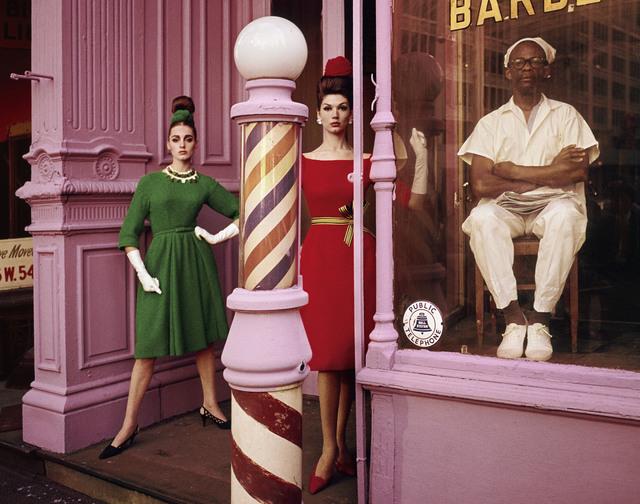 , 'Antonia + Simone + Barber Shop, New York, (Vogue),' 1962, Galerie de la Béraudière