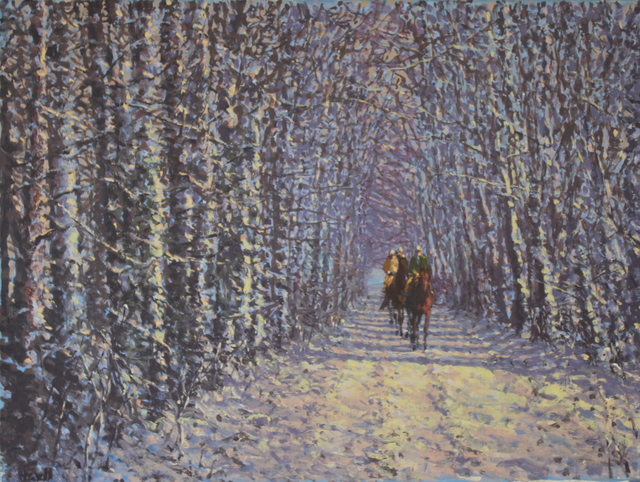 Peter Howell, 'Through the Woods, Chantilly, Winter', Late 20th Century, Cross Gate Gallery