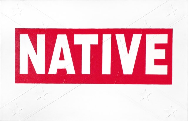 , 'Red Native Bumper Sticker,' 2009, Massey Klein Gallery