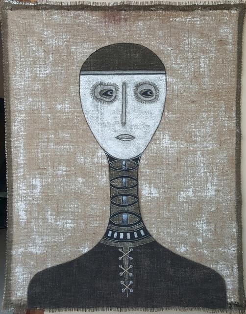 , 'Burlap Portrait A,' 2017, TOTH GALLERY