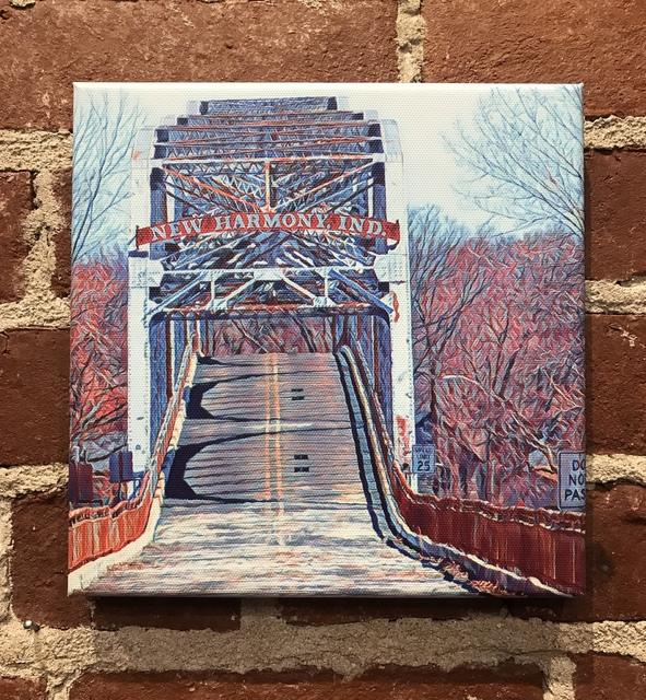 , 'Blue New Harmony Bridge,' 2018, Mason-Nordgauer Fine Arts Gallery
