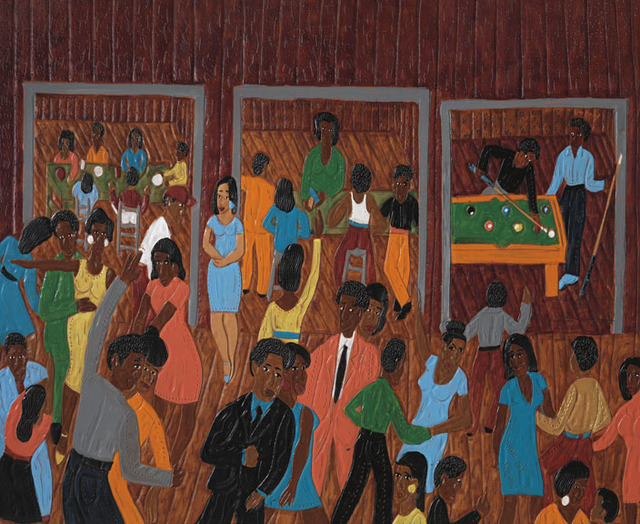 , 'Bubba Dukes and Feet's Pool Hall (Winfred Dancing),' 2002, Adelson Galleries
