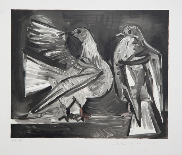 Pablo Picasso, 'Deux Pigeons', 1973-originally 1960, Print, Lithograph on Arches Paper, RoGallery