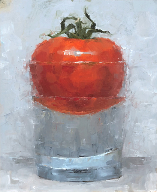Tom Giesler, 'Floral 22: tomato from the neighbor', 2020, Painting, Oil on panel, McVarish Gallery
