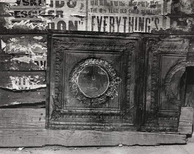 Helen Levitt, 'N.Y.C. (face on tin)', ca. 1939, Laurence Miller Gallery