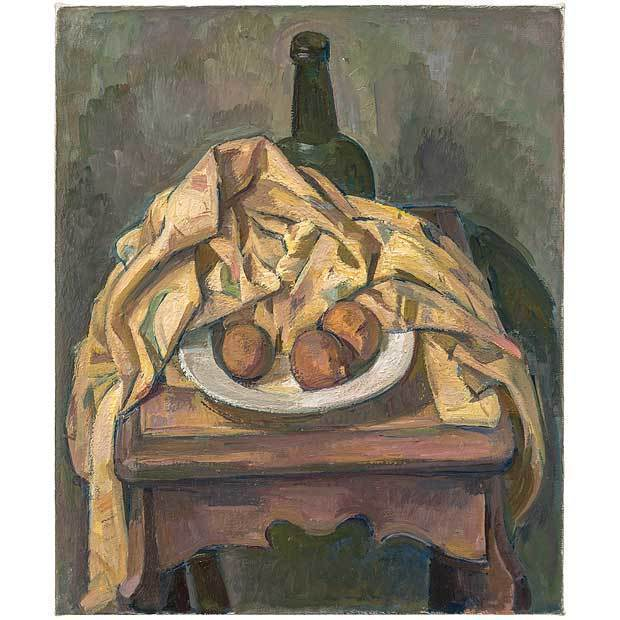 Wilbur Niewald, 'Still Life with Yellow Cloth and Dried Oranges', 2014, Haw Contemporary