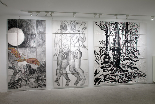 Daniel Heyman, 'Winter: Artist Engages (installation view)', 2012, Cade Tompkins Projects