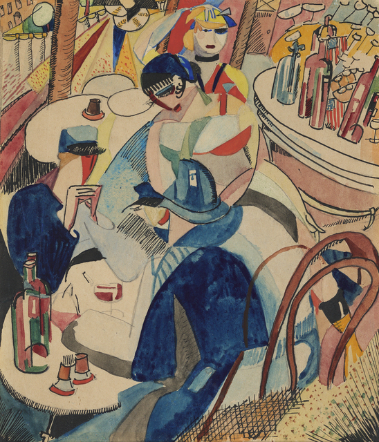 , 'Café Scene in Montparnasse,' ca. 1916, Debra Force Fine Art