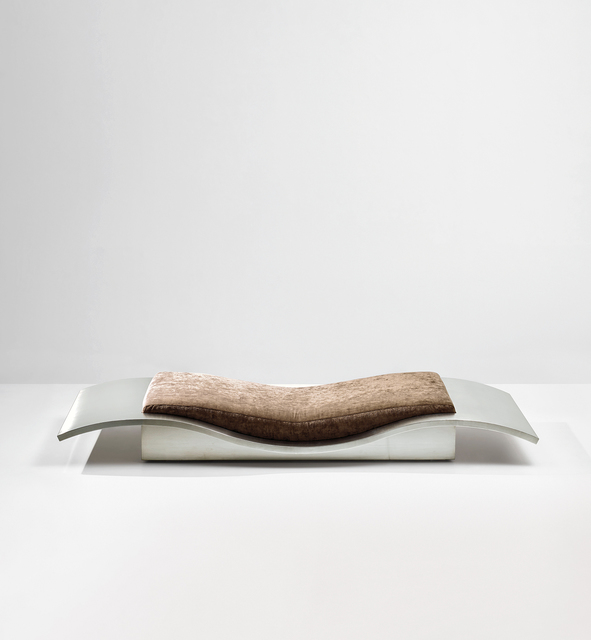 Maria Pergay, ''Tapis Volant' (Flying Carpet) daybed', circa 1968, Design/Decorative Art, Stainless steel, fabric., Phillips