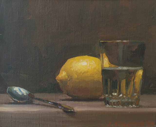 Jacob Collins, 'Lemon with Glass', 1994, Painting, Oil on canvas, Grenning Gallery