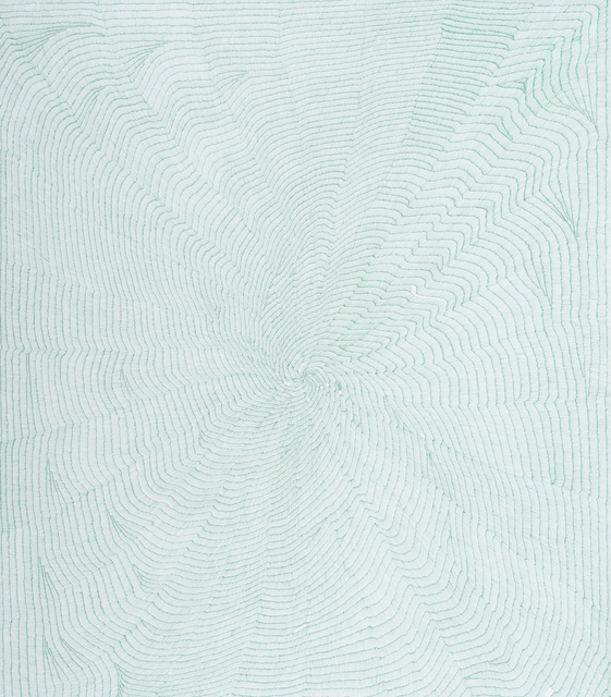 , 'Untitled in green,' 2014, Sabrina Amrani