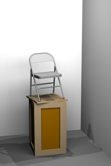 , 'Monument to a Folding Chair,' 2018, Locust Projects