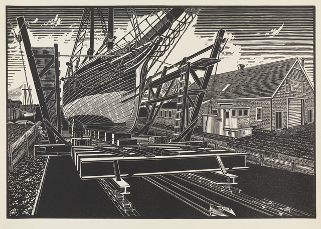 , 'North End Ship Yard, Rockland, Maine,' , Dowling Walsh