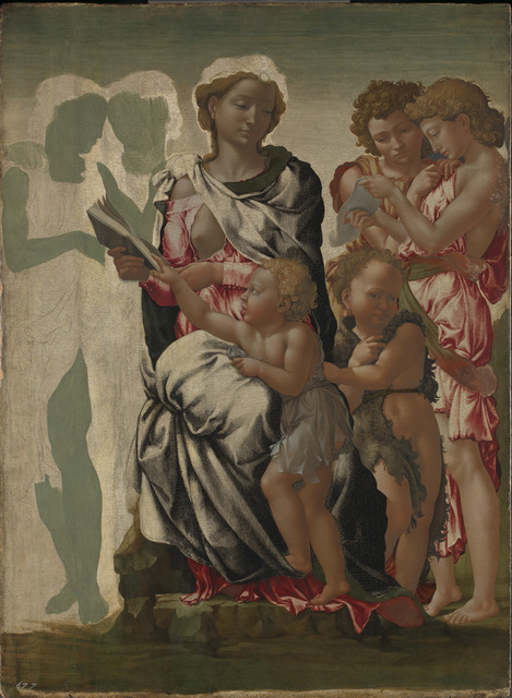, 'The Virgin and Child with Saint John and Angels ('The Manchester Madonna'),' ca. 1497, The National Gallery, London
