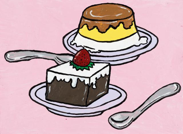 Yukari Sakura, 'The Pucchin Cream Pudding and the Coffee Jelly', 2013, Painting, Acrylic on paper, Creativity Explored