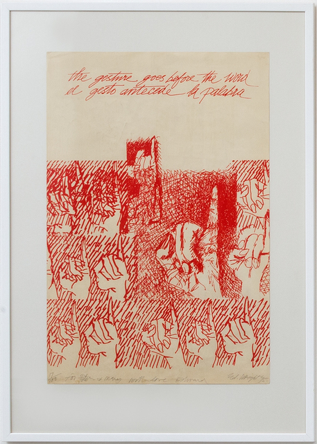, 'The gesture goes before the word,' 1975, Richard Saltoun