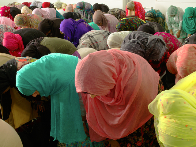 , 'Muslim Women Bowing, New York City,' 2014, Laurence Miller Gallery
