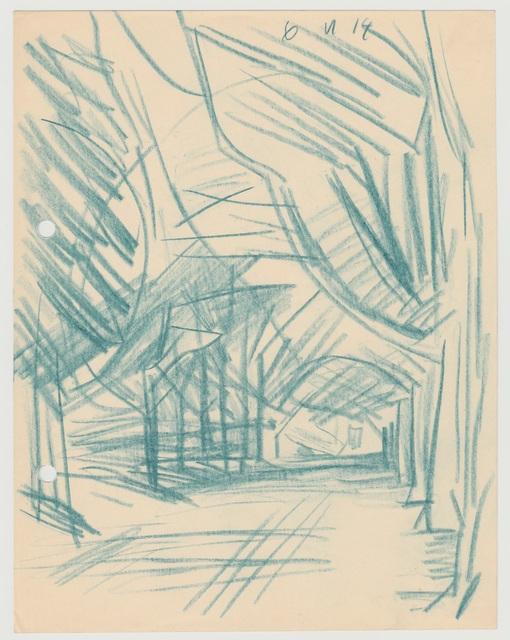 , 'Allee,' 1914, Henze & Ketterer