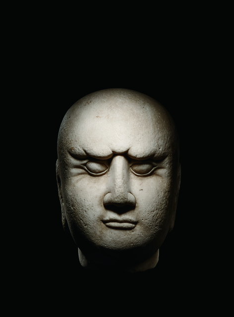 , 'A Large White Marble Head of a Luohan 宋 大理石羅漢首像,' China: Shandong Province, Song Dynasty (960, 1279), Rasti Chinese Art