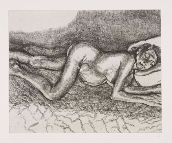 Lucian Freud, 'Before The Fourth', 2004, Print, Etching, Kunzt Gallery