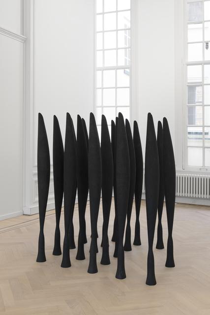 , 'Black Alphabet (Part of Installation 'The Siege'),' 2008, GRIMM