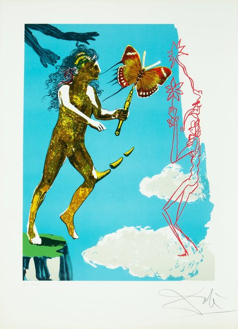 Salvador Dalí, 'Release of the psychic spirit, from Magic Butterfly & the dream', 1978, Print, Lithograph in color on Arches paper, Heritage Auctions