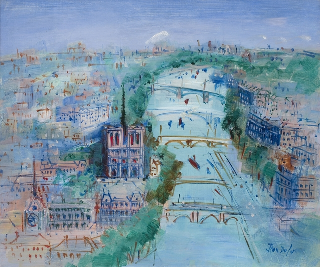 , 'La Seine vers Notre-Dame de Paris   ,' 1958-1960, Willow Gallery