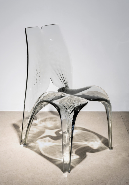 , 'Chair 'Liquid Glacial' Smoke,' 2015, David Gill Gallery