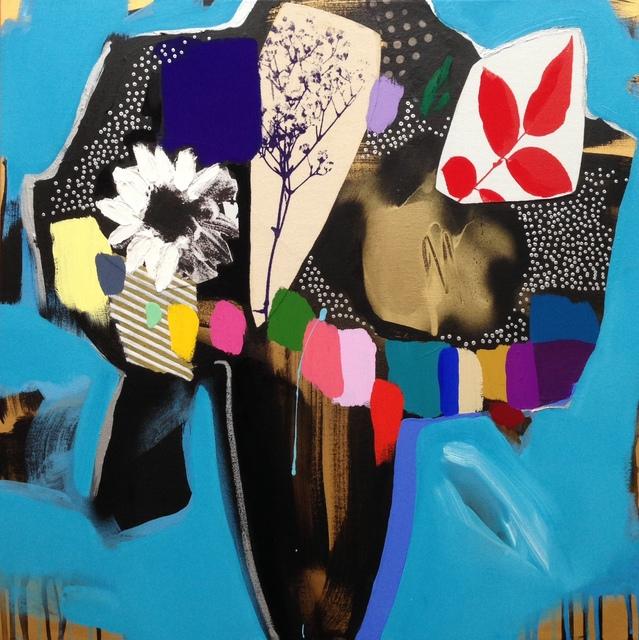, 'Vase Of Flowers (Electric Blue),' 2016, Rebecca Hossack Art Gallery