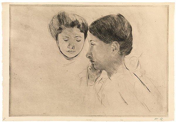 Mary Cassatt, 'Celeste and Marjorie', ca. 1898, Adelson Galleries