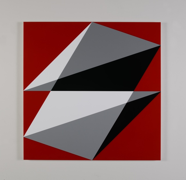 , 'Composition in 3015 White, 3001 Gray, 2026 Black and 2793 Red,' 2015, Miller Yezerski Gallery