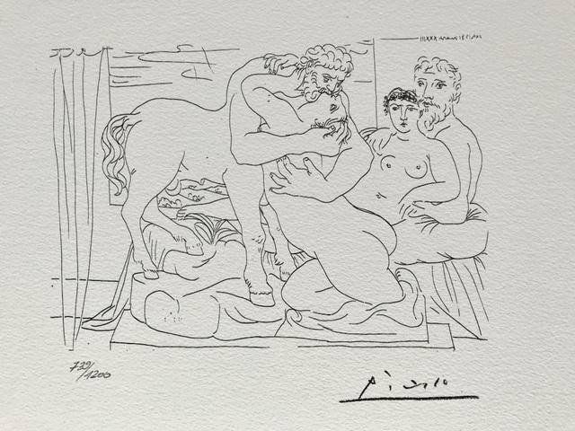 Pablo Picasso, 'Sculpteur et son modèle avec un groupe sculpté (Suite Vollard Planche LVIII)', 1973, ByNewArt