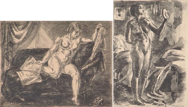 John Sloan, 'Two works of art', Rago