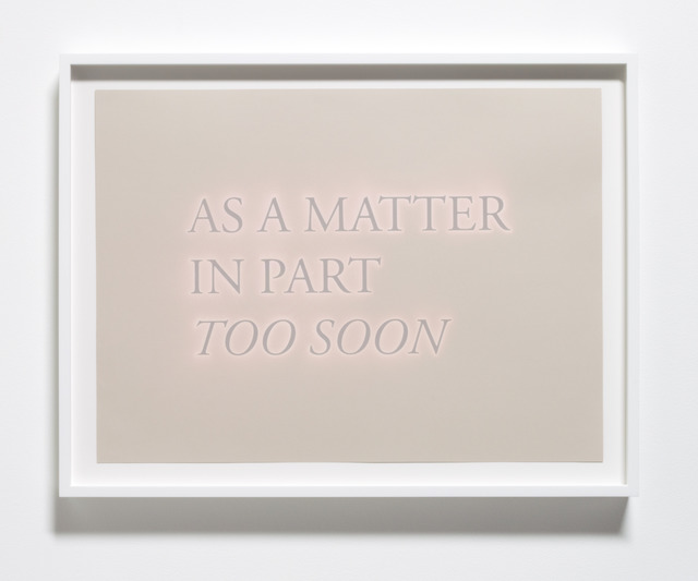 , 'As a Matter in Part Too Soon,' 2013, Meliksetian | Briggs