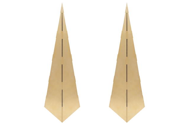 Gabriella Crespi, 'Pair of Brass Obelisks in the Manner of Gabriella Crespi', ca. 1970, On Madison