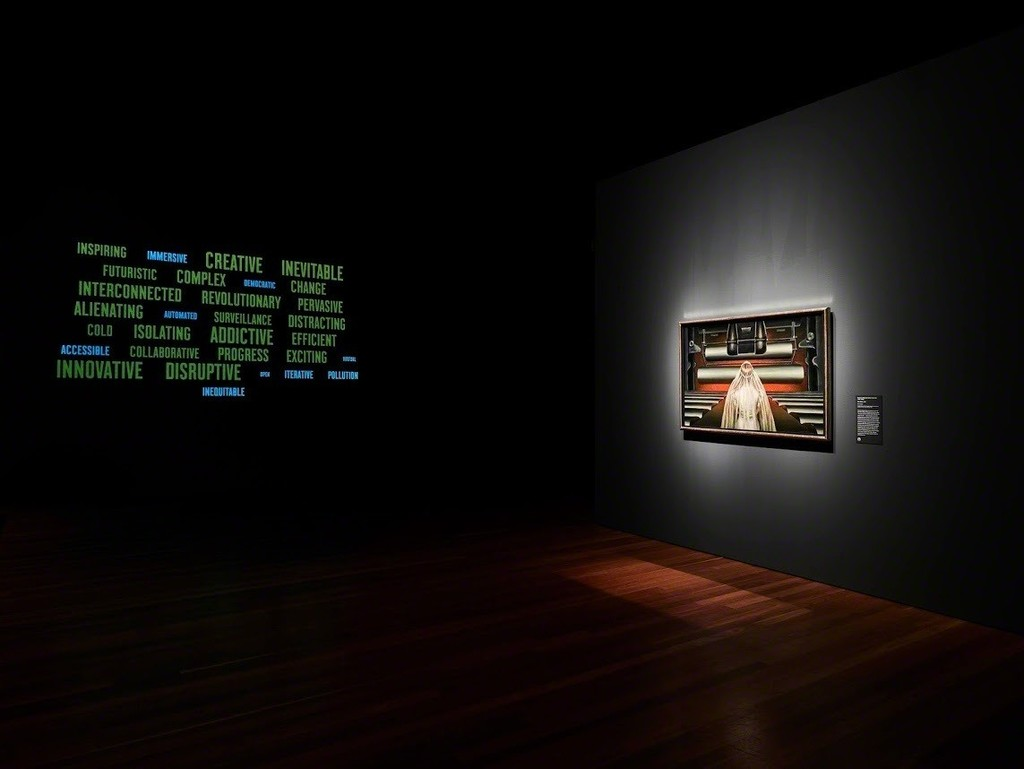 Installation view of 'Cult of the Machine' at the de Young museum
