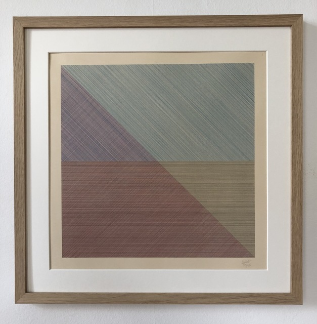 Sol LeWitt, 'Eight Squares with a Different Color in Each Half Square (Divided Horizontally and Vertically), plate #7', 1980, inch&cm
