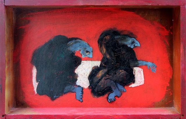 Ramazan Can, 'Şamanların Erk Hayvanları', 2014, Painting, Mixed media on wood, Anna Laudel