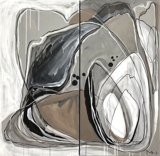 , 'Abstract Flower Diptych,' , Beverly McNeil Gallery