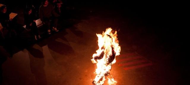 , 'No Contract (burn suit),' 2011, Robert Kananaj Gallery