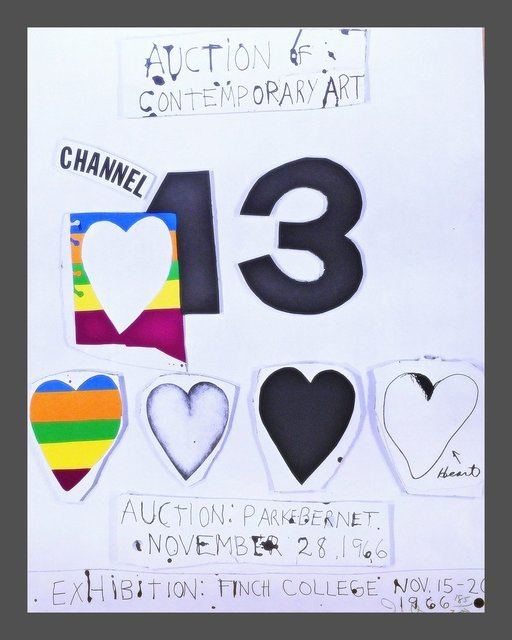 Jim Dine, 'I Love Public Television (for Channel 13)', 1966, Alpha 137 Gallery