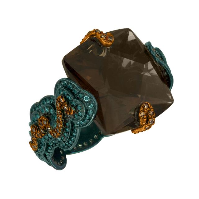 William Ehrlich, 'Zig Zag Ring (Orange & Blue Diamonds with Smokey Topaz)', 2015, Jason Jacques Gallery