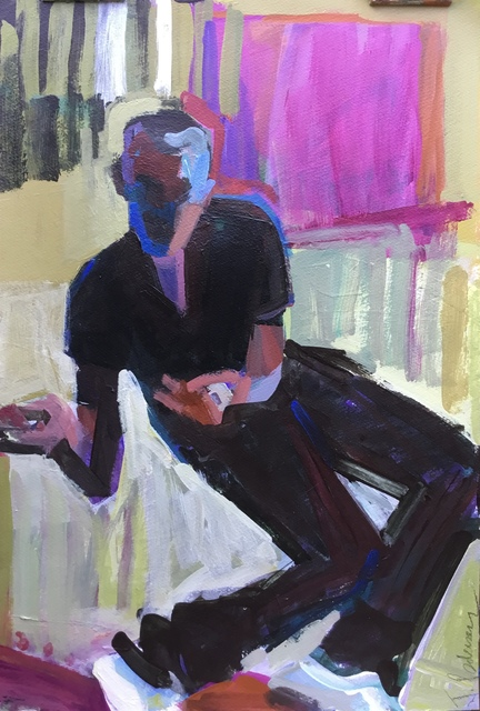 Janet Pedersen, 'Jazz Man', 2020, Drawing, Collage or other Work on Paper, Acrylic on archival paper, 440 Gallery