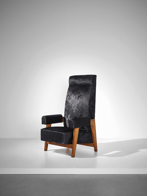 Le Corbusier, 'Rare 'Court's President' armchair, designed for the High Court, Chandigarh', 1955-1956, Phillips
