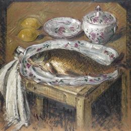 , 'La carpe,' 1865-1935, Waterhouse & Dodd