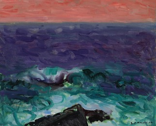 Evening at the Sea, the Faroe Islands
